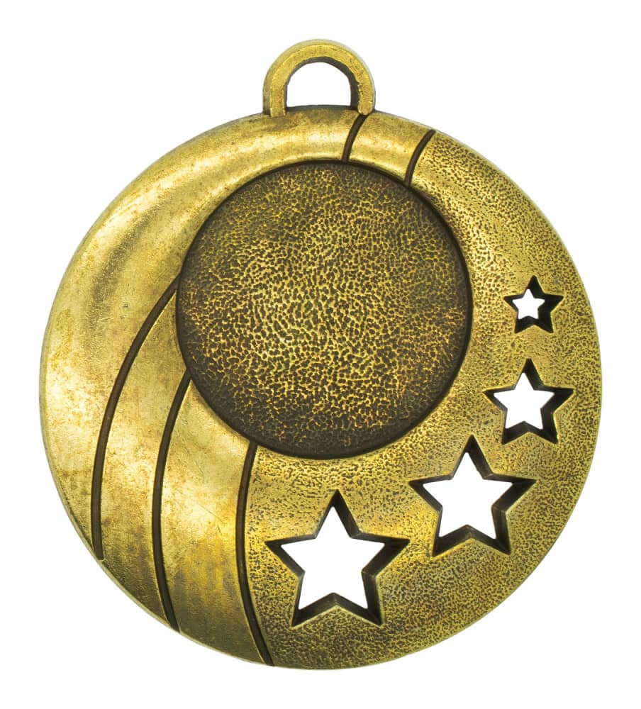 """Medaille """"Gela"""" Ø 50mm mit Wunschemblem und Band bronze"""