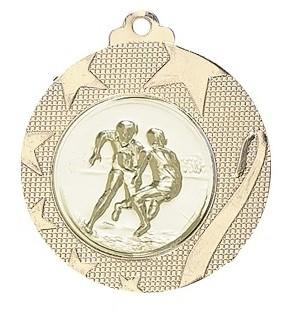 """Medaille """"Iraklio"""" Ø 50mm mit Wunschemblem und Band gold"""
