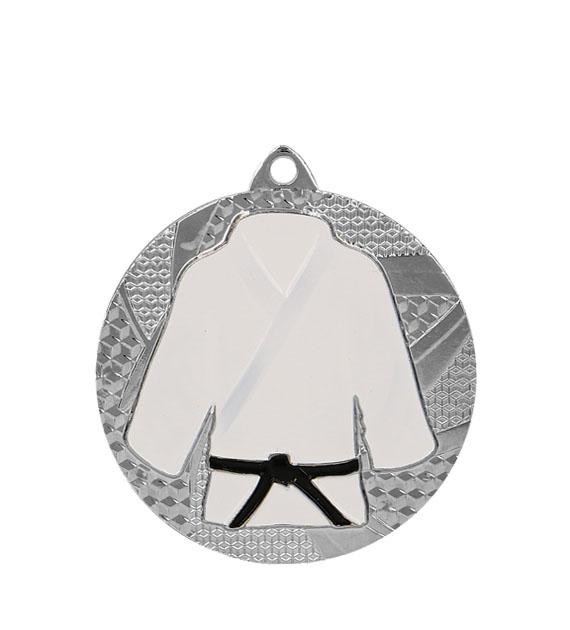 """Medaille """"Judo"""" Ø 50mm mit Band Silber"""