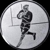 Emblem 25mm Footballer, silber