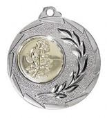 """Medaille """"Cava"""" Ø 50mm mit Wunschemblem und Band silber"""