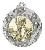 """Medaille """"Iraklio"""" Ø 50mm mit Wunschemblem und Band silber"""