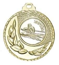 """Medaille """"Kamiros"""" Ø 50mm mit Wunschemblem und Band gold"""