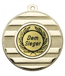 "Medaille ""Keren"" Ø 50 mm inkl. Wunschemblem und Kordel gold"