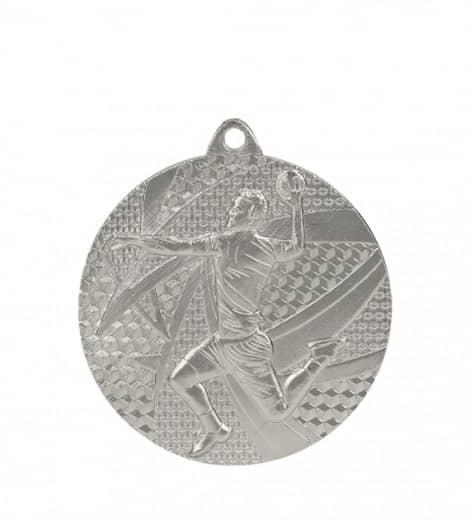 "Medaille ""Handball"" Ø 50mm mit Band Silber"