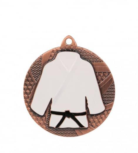 """Medaille """"Judo"""" Ø 50mm mit Band Bronze"""