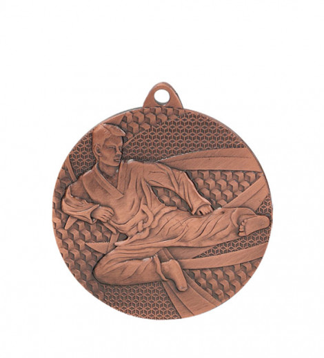 "Medaille ""Karate"" Ø 50mm mit Band Bronze"