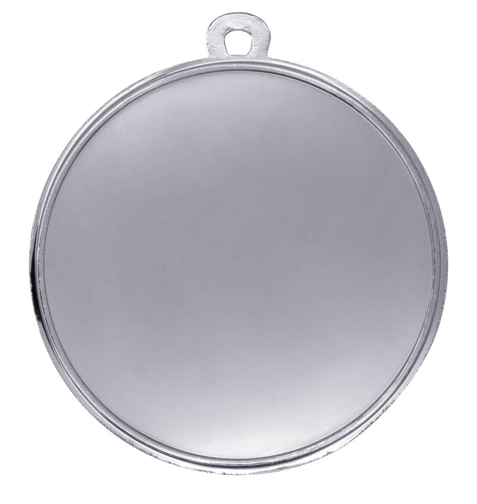 """Medaille """"Gela"""" Ø 50mm mit Wunschemblem und Band silber"""