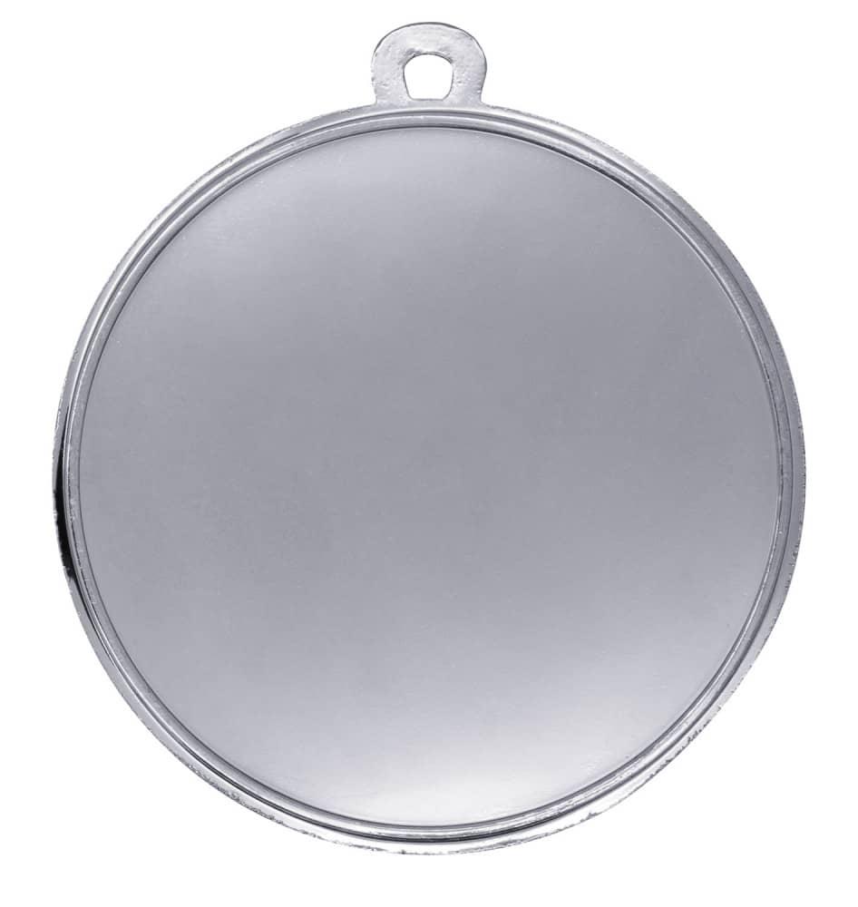 "Medaille ""Nemea"" Ø 50mm mit Wunschemblem und Band silber"