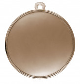 """Medaille """"Cava"""" Ø 50mm mit Wunschemblem und Band bronze"""