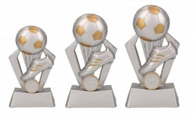 Fußballpokale 3er Serie TRY-RP800 silber gold 12,5 cm