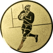 Emblem 50mm Footballer, gold