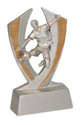 """Fußballer """"Im Flug"""" TRY-RE016 silber gold"""