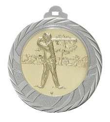 """Medaille """"Eloro"""" Ø 70mm mit Wunschemblem und Band silber"""