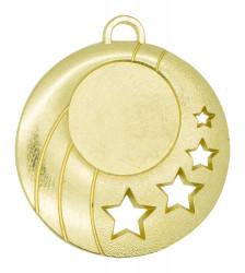 """Medaille """"Gela"""" Ø 50mm mit Wunschemblem und Band gold"""