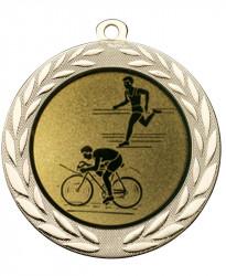 "Medaille ""Moiren"" Ø 70 mm inkl. Wunschemblem und Kordel gold"