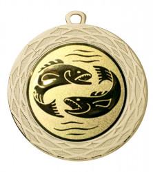 """Medaille """"Uranos"""" Ø 70 mm inkl. Wunschemblem und Kordel gold"""