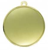 """Medaille """"Midea"""" Ø 70mm mit Wunschemblem und Band gold"""