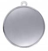 """Medaille """"Pydna"""" Ø 70mm mit Wunschemblem und Band silber"""