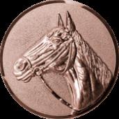 Emblem 25mm Pferd 3D, bronze
