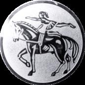 Emblem 25mm Voltigieren, silber