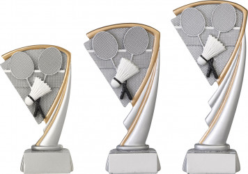 Badmintonpokale 3er Serie C804 17 cm