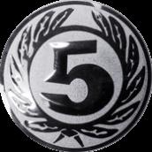 Emblem 50 mm Ehrenkranz mit 5, silber