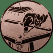 Emblem 50mm Billardspieler links, bronze