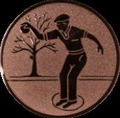 Emblem 25mm Petanque männl., bronze