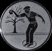 Emblem 25mm Petanque männl., silber