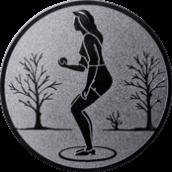Emblem 25mm Petanque weibl., silber