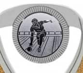 Bowlingpokale 3er Serie C533-BOW silber 12 cm