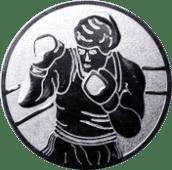 Emblem 25mm Boxer, silber