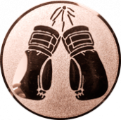 Emblem 25mm Boxhandschuhe, bronze