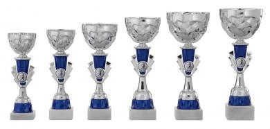 Pokale 6er Serie S437 silber-blau 24 cm