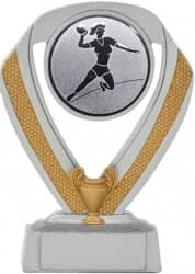 Handballpokale 3er Serie A533-HA silber 14 cm