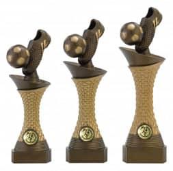 """Fußballpokale 3er Serie C164 """"Schuss"""" 23,5 cm"""