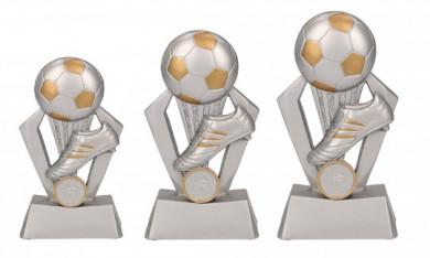 Fußballpokale 3er Serie TRY-RP800 silber gold 17,5 cm
