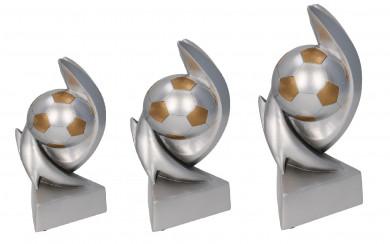Fußballpokale 3er Serie TRY-RP110 silber gold 17,5 cm