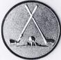 Emblem 25mm 2xGolfschläger, silber