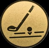 Emblem 25mm Golfschläger, gold