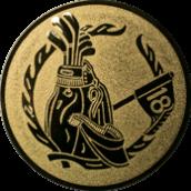 Emblem 25mm Golftasche,  gold