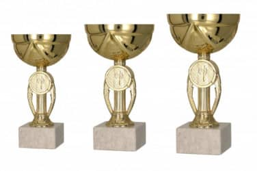 Pokale 3er Serie TRY9077 gold 15 cm