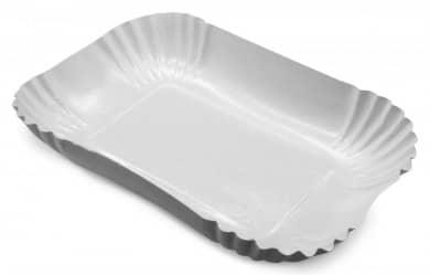 Pappschalen weiß eckig 250 Stk.