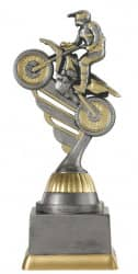 Motocrosspokal PF236-M61 altsilber/gold 17,3 cm