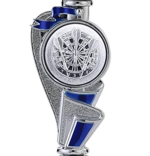Pokale 12er Serie S766 silber/blau 21 cm