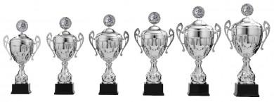 Pokale mit Henkel 6er Serie S922 silber mit Deckel 57 cm