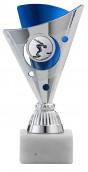 Pokale 3er Serie A1215 silber/blau 15 cm