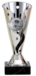 Badmintonpokale 3er Serie A100-BAD silber
