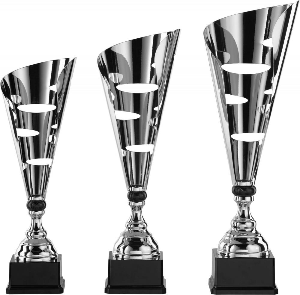 Pokale 3er Serie S869 silber/schwarz 47 cm